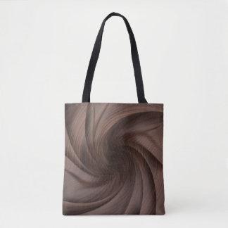 Bolsa Tote Sacolas de madeira torcidas escuras do design