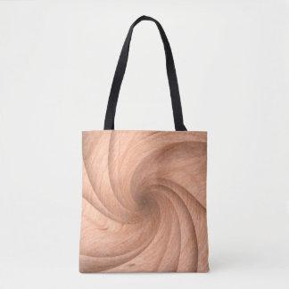 Bolsa Tote Sacolas de madeira torcidas planície do design