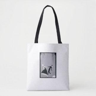 Bolsa Tote sacolas diárias preto e branco
