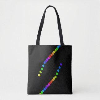 Bolsa Tote Sacolas do arco-íris da diversidade do orgulho gay