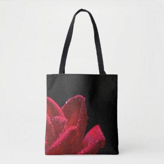 Bolsa Tote Sacolas do design da rosa vermelha