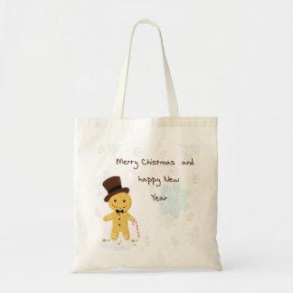 Bolsa Tote sacolas do pão-de-espécie do Natal do casado
