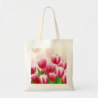Bolsa Tote Sacolas do presente da páscoa das tulipas do