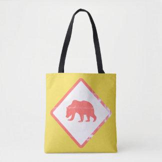 Bolsa Tote Sacolas do urso da atenção