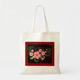 Bolsa Tote Sacolas florais do orçamento da flor do vetor do
