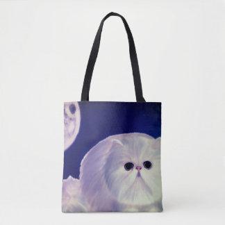 Bolsa Tote Sacolas gordas do gatinho do design bonito