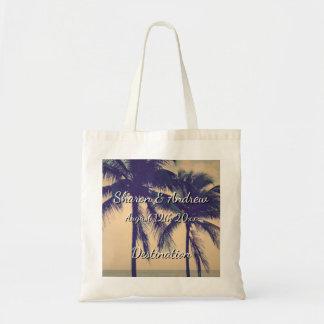 Bolsa Tote Sacolas tropicais do casamento do destino de Palm