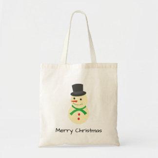 Bolsa Tote Sagacidade do boneco de neve Feliz Natal de um