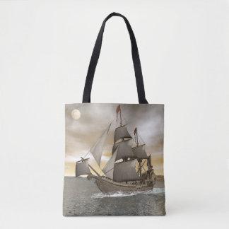Bolsa Tote Sair do navio de pirata - 3D rendem