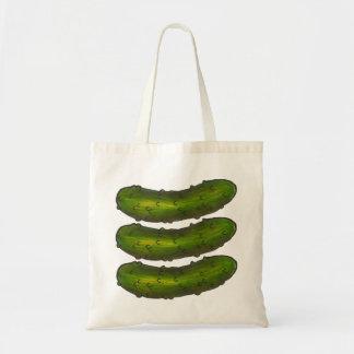 Bolsa Tote Salmoura Kosher verde crocante de três salmouras