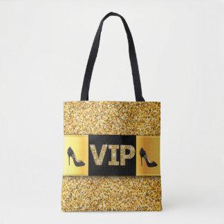 Bolsa Tote Saltos altos dos diamantes do ouro do VIP