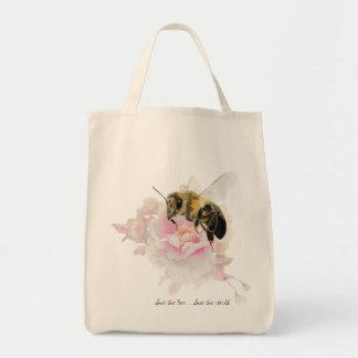 Bolsa Tote Salvar a abelha! Salvar o mundo! Abelha bonito