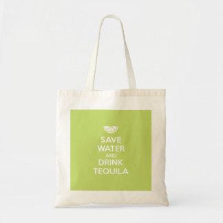 Bolsa Tote Salvar a água e beba o Tequila