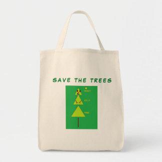 Bolsa Tote Salvar a sacola feita sob encomenda das árvores