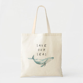 Bolsa Tote Salvar nossa sacola da conservação dos mares