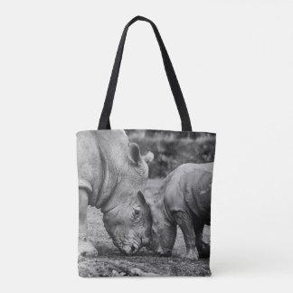 Bolsa Tote salvar os rhinos