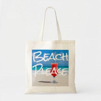 Bolsa Tote Sandy Beach bonito por favor com daiquiri vermelho
