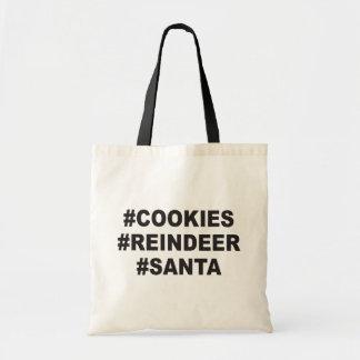 Bolsa Tote #santa do #reindeer dos #cookies