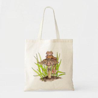 Bolsa Tote Sapos que compartilham de uma sacola do livro