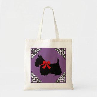 Bolsa Tote Scottish trança preta/branca, cletic de Terrier,