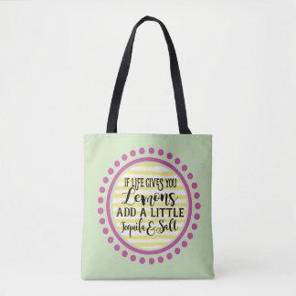 Bolsa Tote Se a vida lhe dá a sacola dos limões