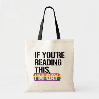 Bolsa Tote Se você está lendo este, eu sou - - direitos