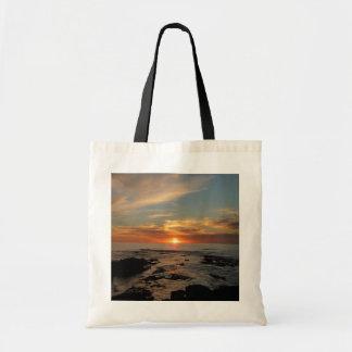 Bolsa Tote Seascape do por do sol II Califórnia de San Diego