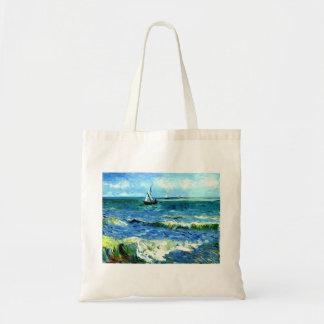 Bolsa Tote Seascape em Saintes-Maries, Vincent van Gogh