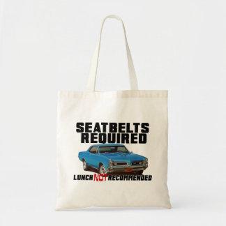Bolsa Tote Seatbelts exigidos para GTO