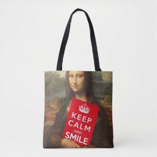Bolsa Tote Segredo do sorriso de Mona Lisa