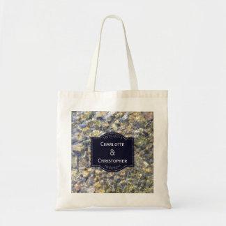 Bolsa Tote Seixos do rio e casamento personalizado água