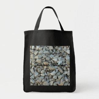 Bolsa Tote Seixos na fotografia da pedra da praia
