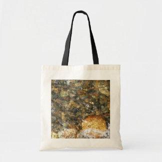 Bolsa Tote Seixos Rio-Vestidos Brown e abstrato natural