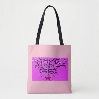 Bolsa Tote Senhora cor-de-rosa sacola