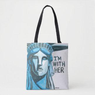 Bolsa Tote Senhora Liberdade - eu sou com ela