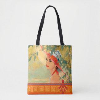Bolsa Tote Senhora na sacola alaranjada do chapéu