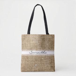 Bolsa Tote Serapilheira e sacola Lacey do design da fita