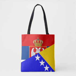 Bolsa Tote serbia Bósnia - símbolo do país da bandeira de