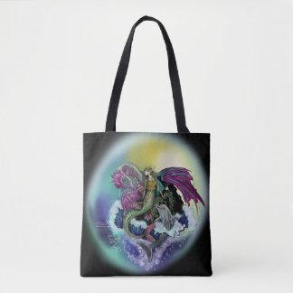 Bolsa Tote Sereia, dragão, &Dolphin