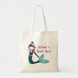 Bolsa Tote Sereia, saco de livro personalizado