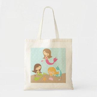 Bolsa Tote Sereias bonitos sob a sacola do mar