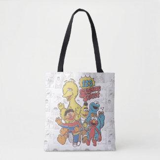 Bolsa Tote Sesame Street do vintage 123