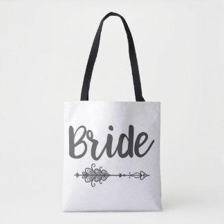 Bolsa Tote Seta da noiva & sacola do nome