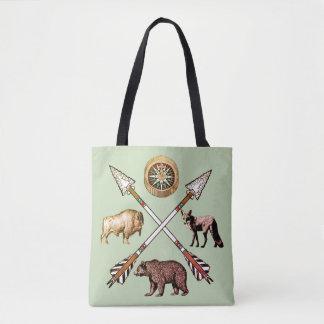 Bolsa Tote Setas e sacola cruzadas dos animais selvagens