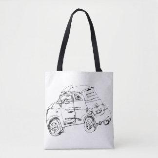 Bolsa Tote Seu favorito roda dentro a sacola de Paris