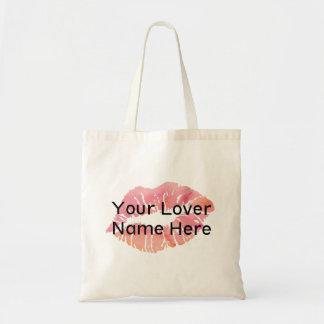 Bolsa Tote Seu nome do amante aqui inclui no orçamento o
