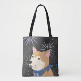 Bolsa Tote Shiba Inu, Shiba alaranjado, ano do cão