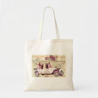Bolsa Tote Sightseers do biplano do automóvel do vintage