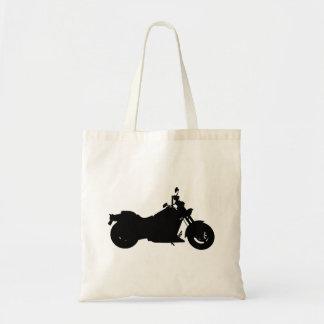 Bolsa Tote Silhueta da motocicleta