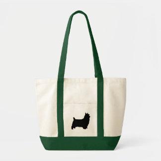 Bolsa Tote Silhueta de Terrier de seda